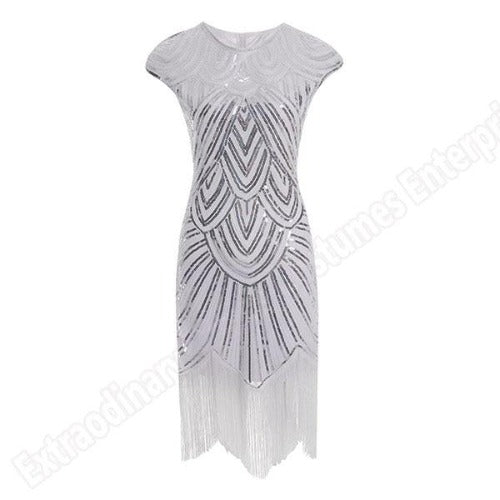 Flapper Dress White