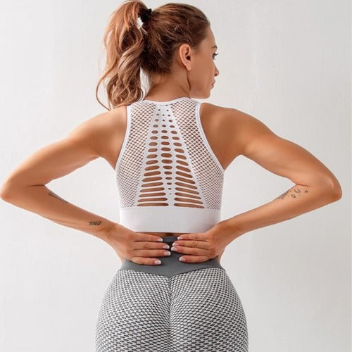 Breathable Fitness Bra Back View