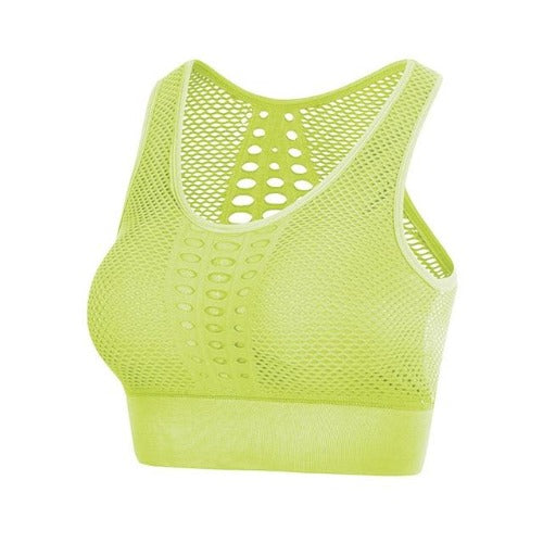 Breathable Fitness Bra Yellow