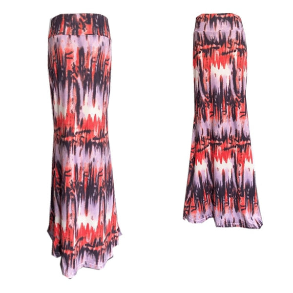 Printed Resort Maxi Skirt White