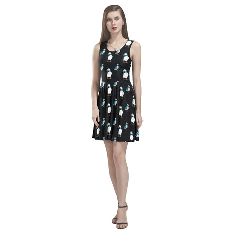 Puffin sleeveless skater dress