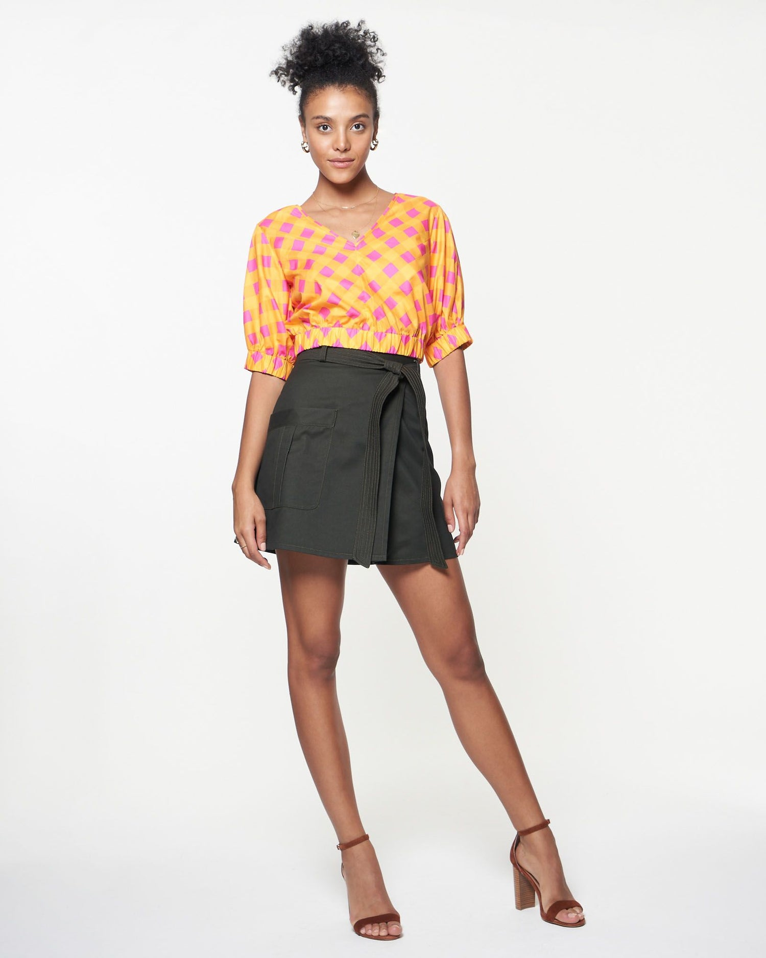 Sophie Top | Mini Sunset Gingham