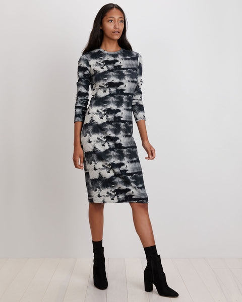 Midi Tee Dress | Black Ink