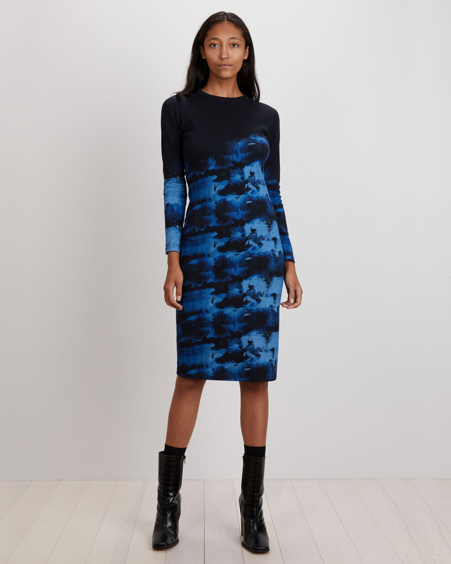 Midi Tee Dress | Indigo Ink
