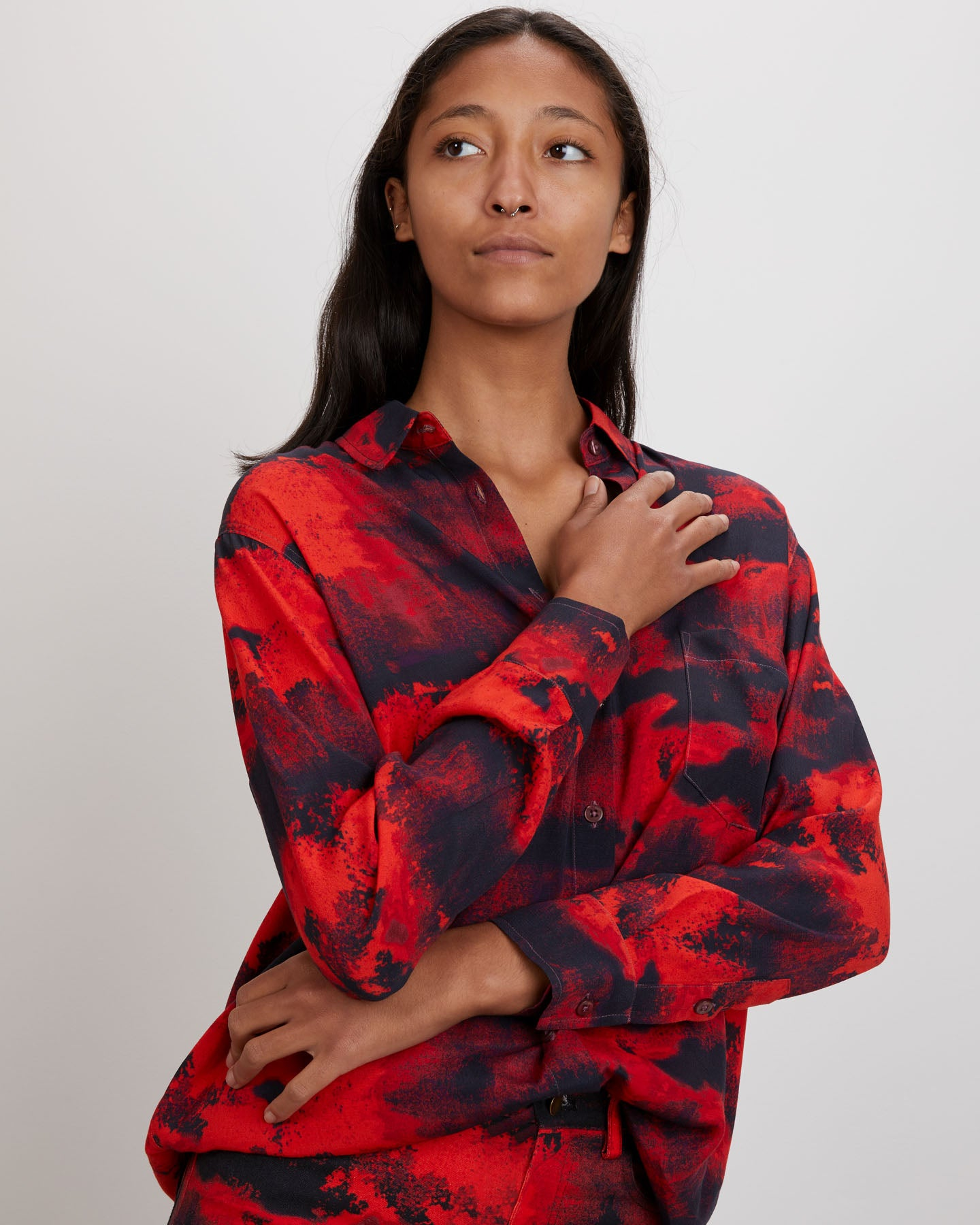 Zoe Shirt | Crimson Ink