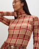 Turtleneck | Ivory Plaid