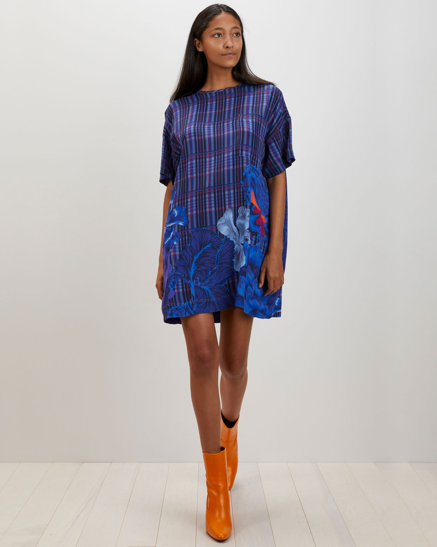 Maya Dress | Plaid Iris