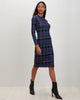 Midi Tee Dress | Indigo Plaid
