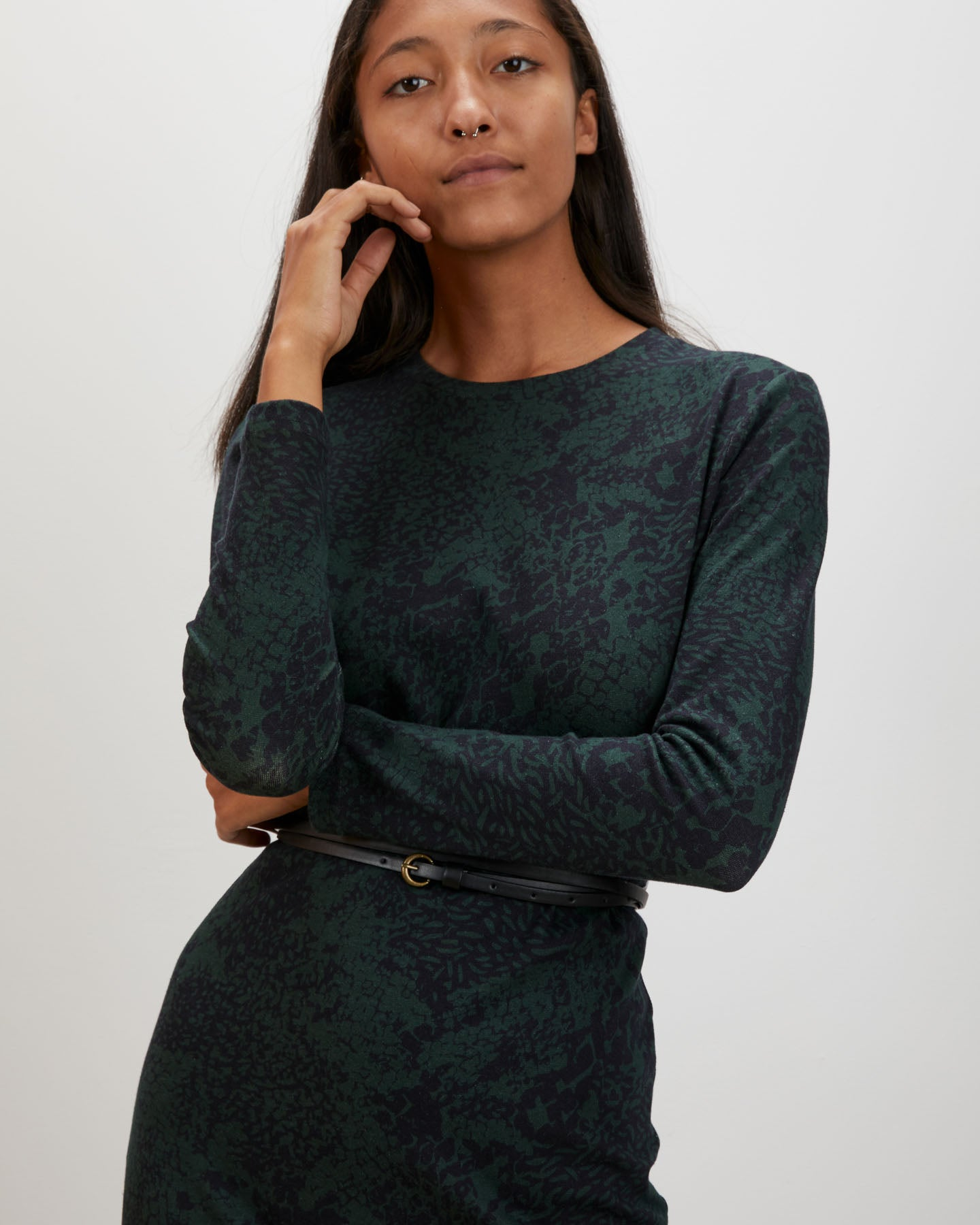 Midi Tee Dress | Green Complication