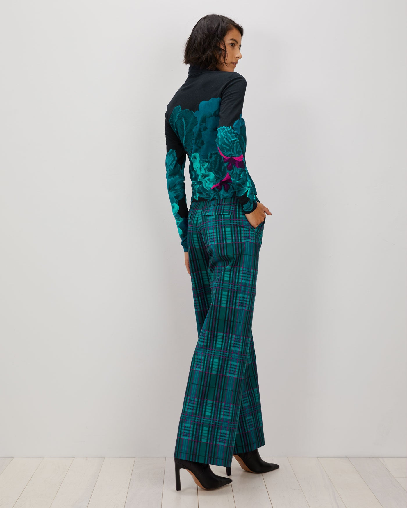 Tracee Pant | Jewel Plaid