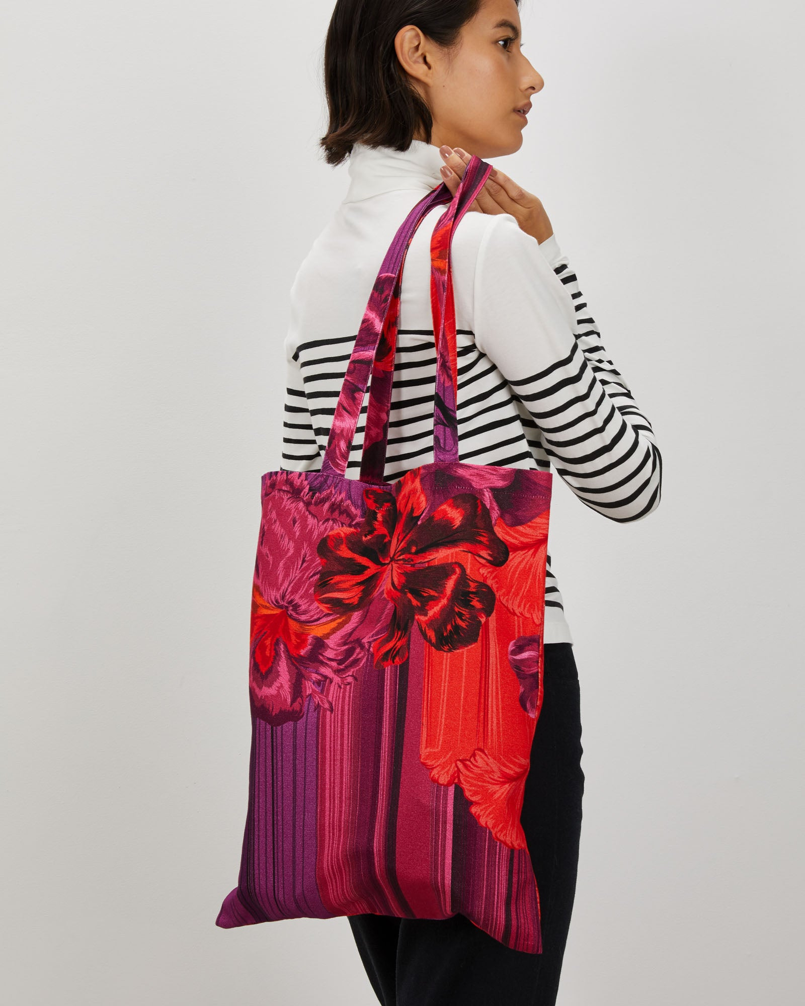 Bailey Tote | Striped Iris