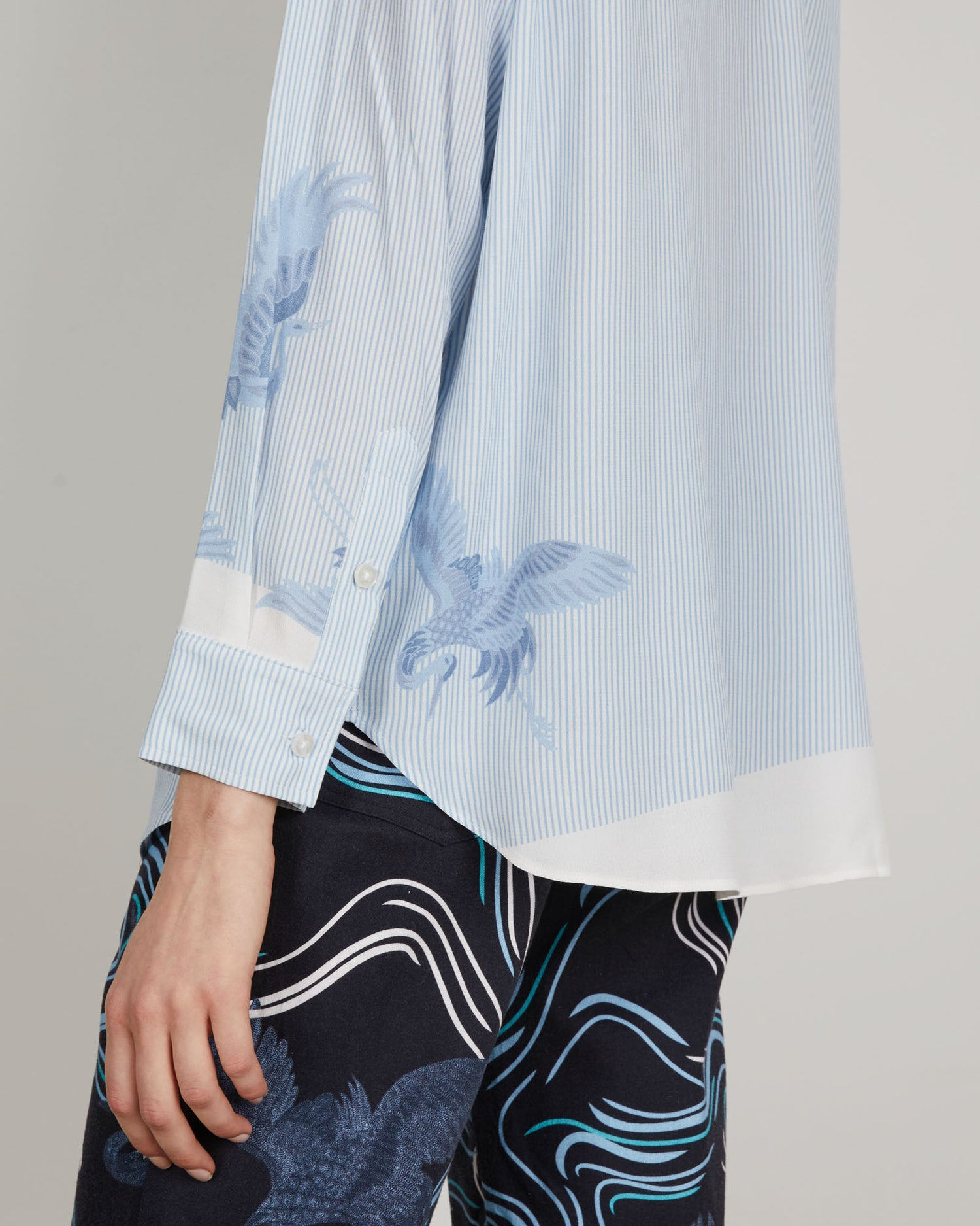 Zoe Shirt | Sky Blue Bird