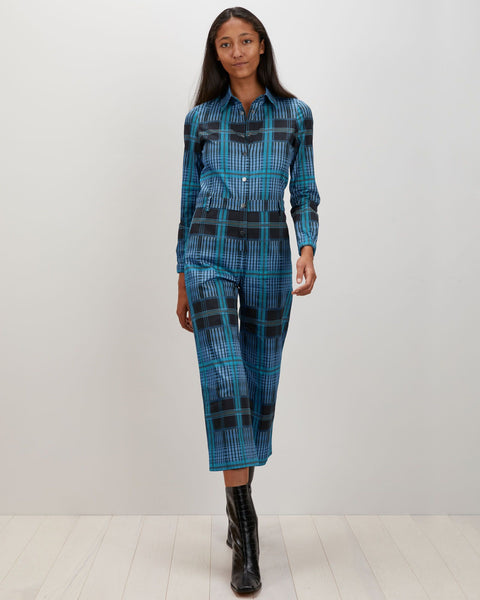 Alex Jumpsuit | Ocean Plaid