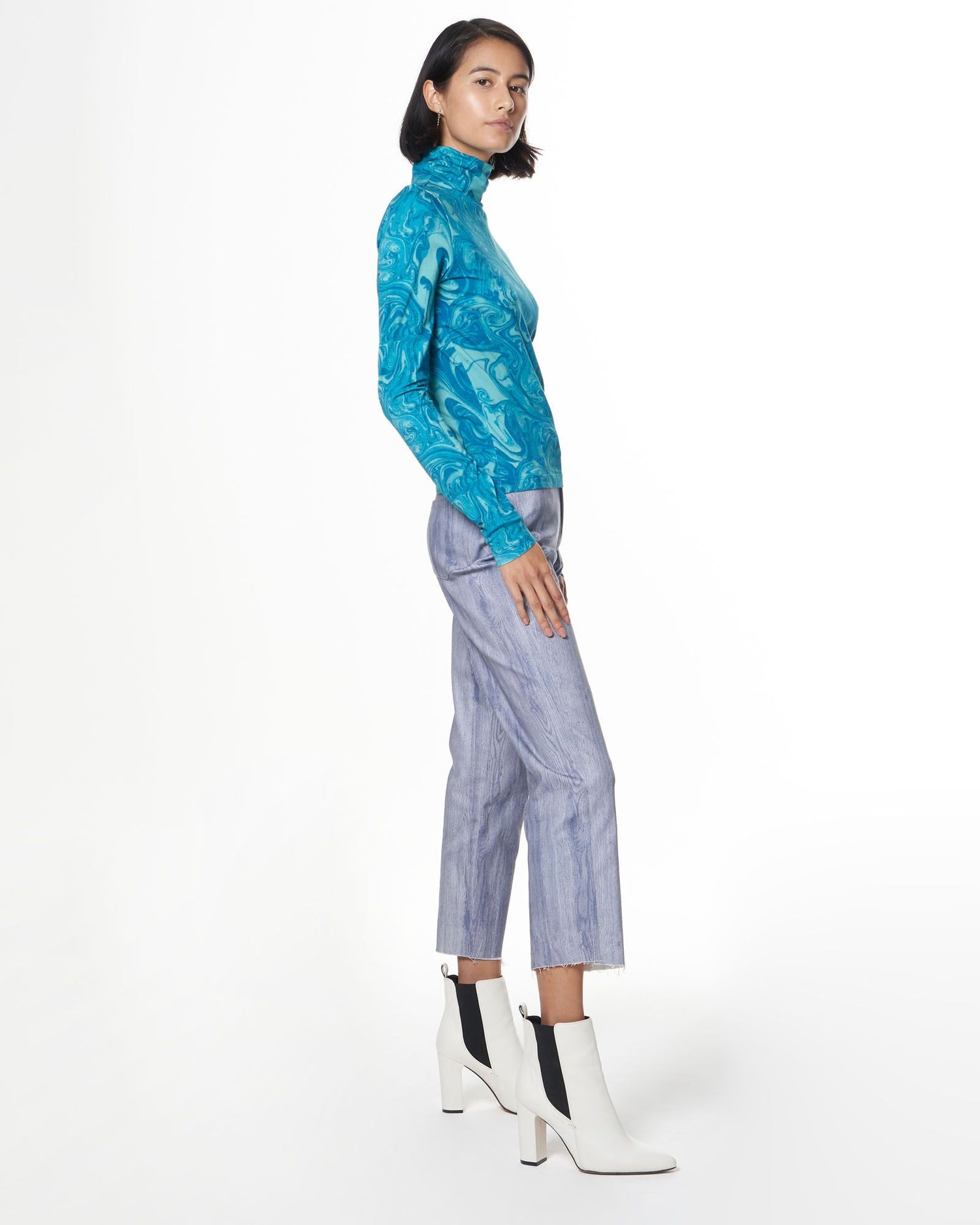 Turtleneck | Aqua Swirl
