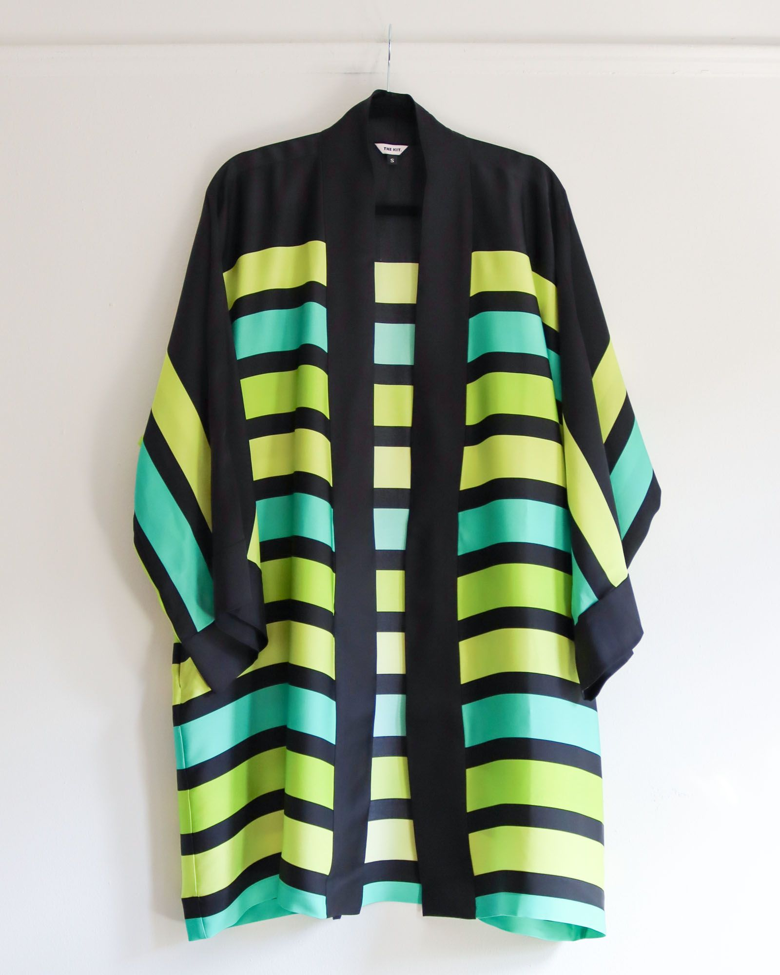 Brea Robe | Lime Kennedy Stripe