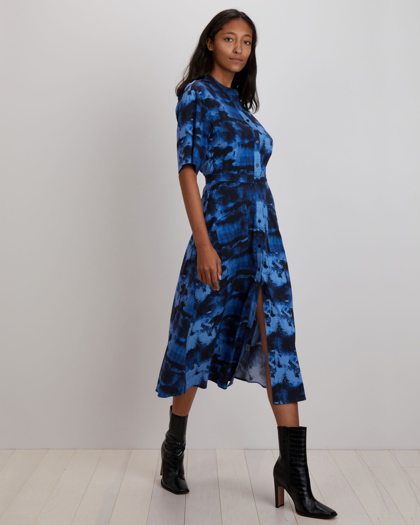 Cobie Shirtdress | Indigo Ink