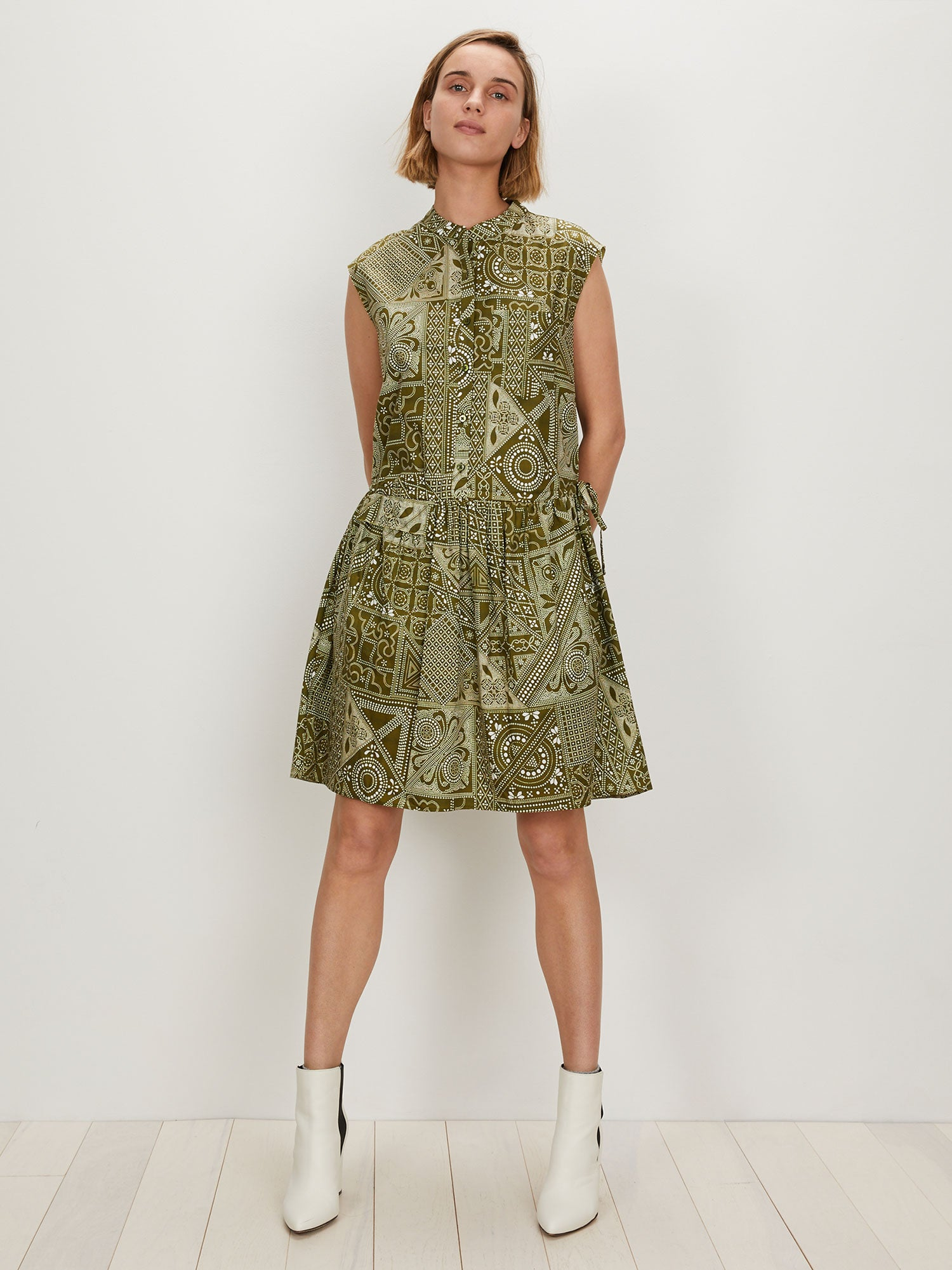 Deconstructed Shirtdress | Olive Batik