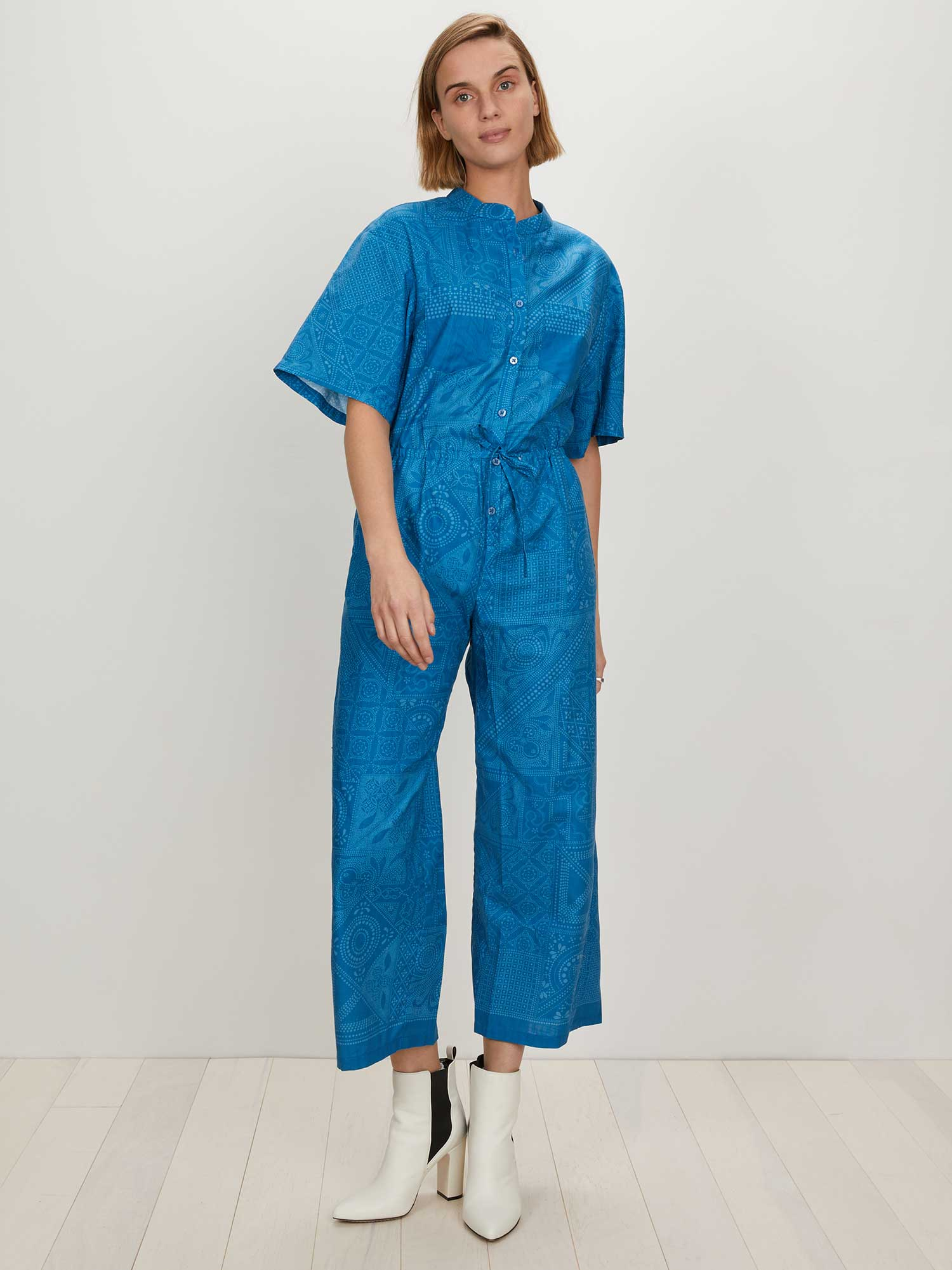 Issa Jumpsuit | Medium Blue Batik