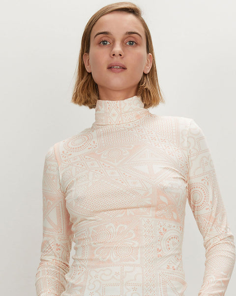 Turtleneck | Ivory Batik
