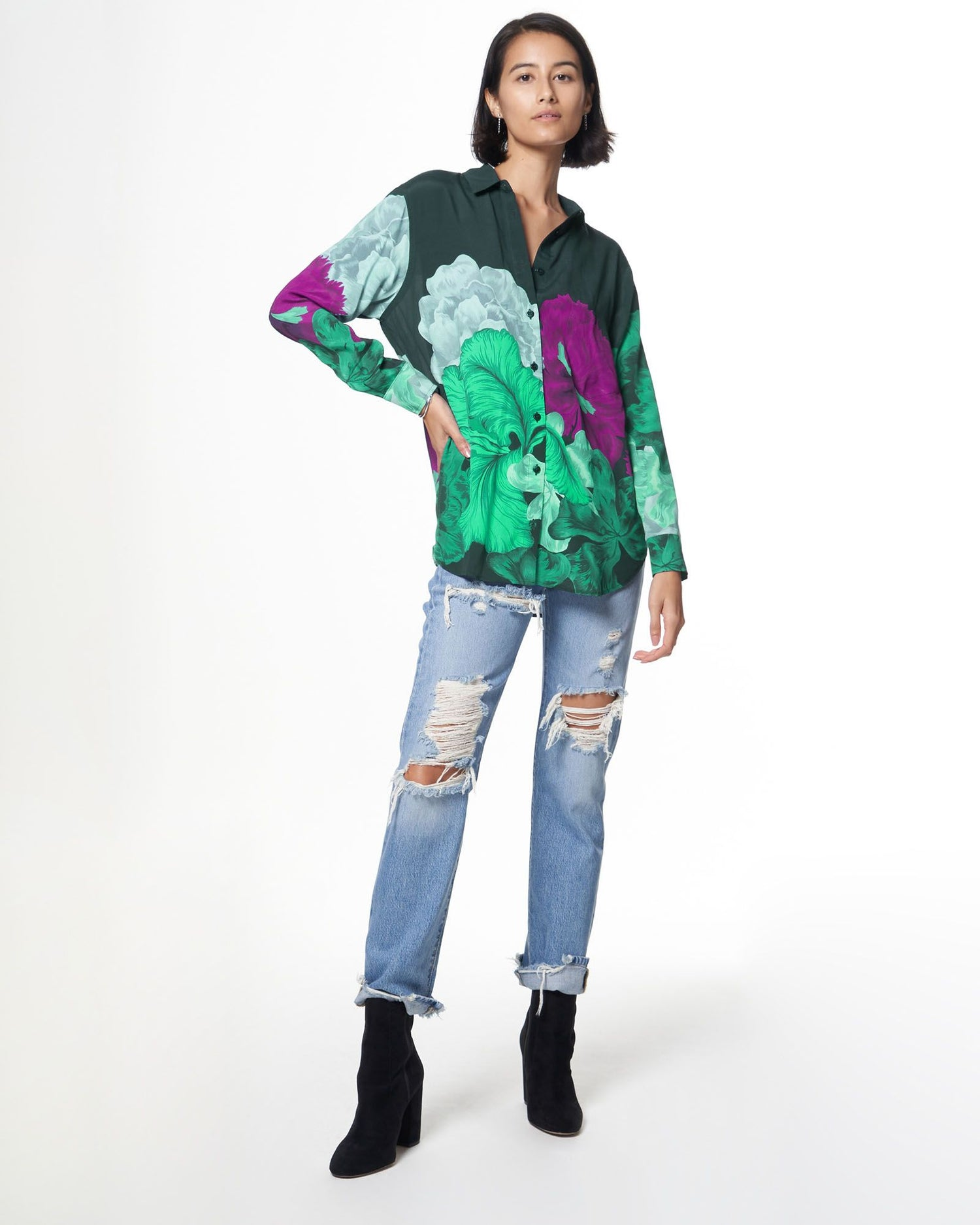Zoe Shirt | Evergreen Iris