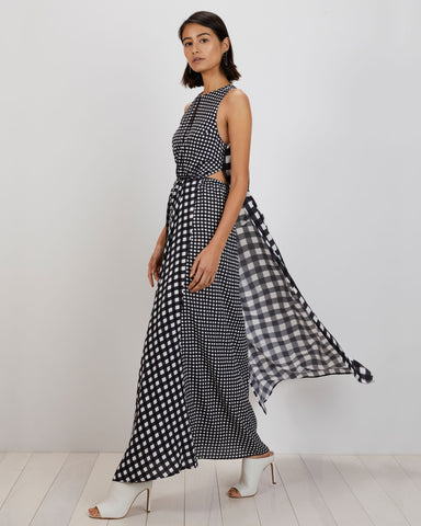 Anna Dress | Black Mini Gingham