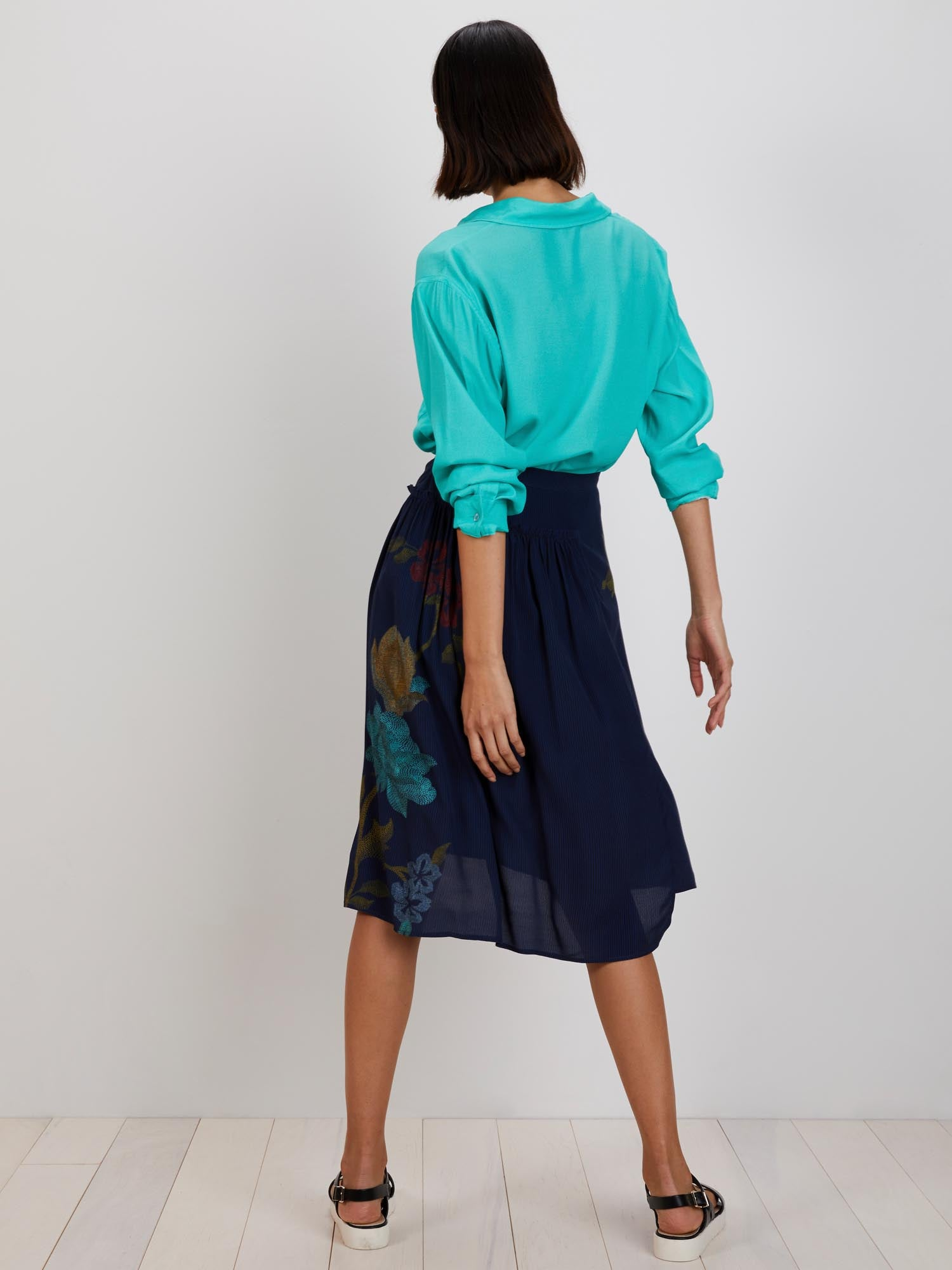 Dorothy Skirt | Navy Stich Florals