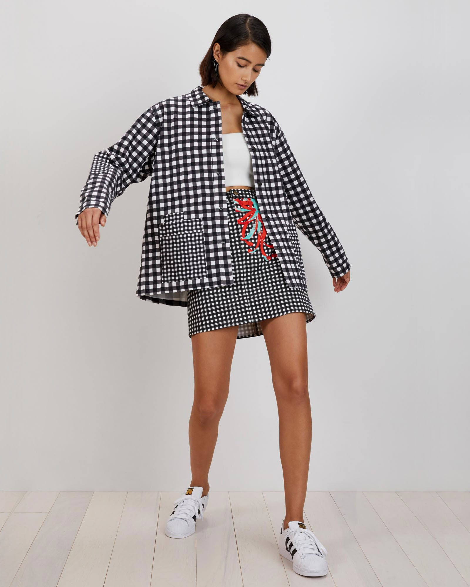 Painter's Jacket | Black Micro Gingham