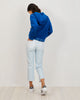Cropped Alexa Jean | Kit Blue Thin Stripe