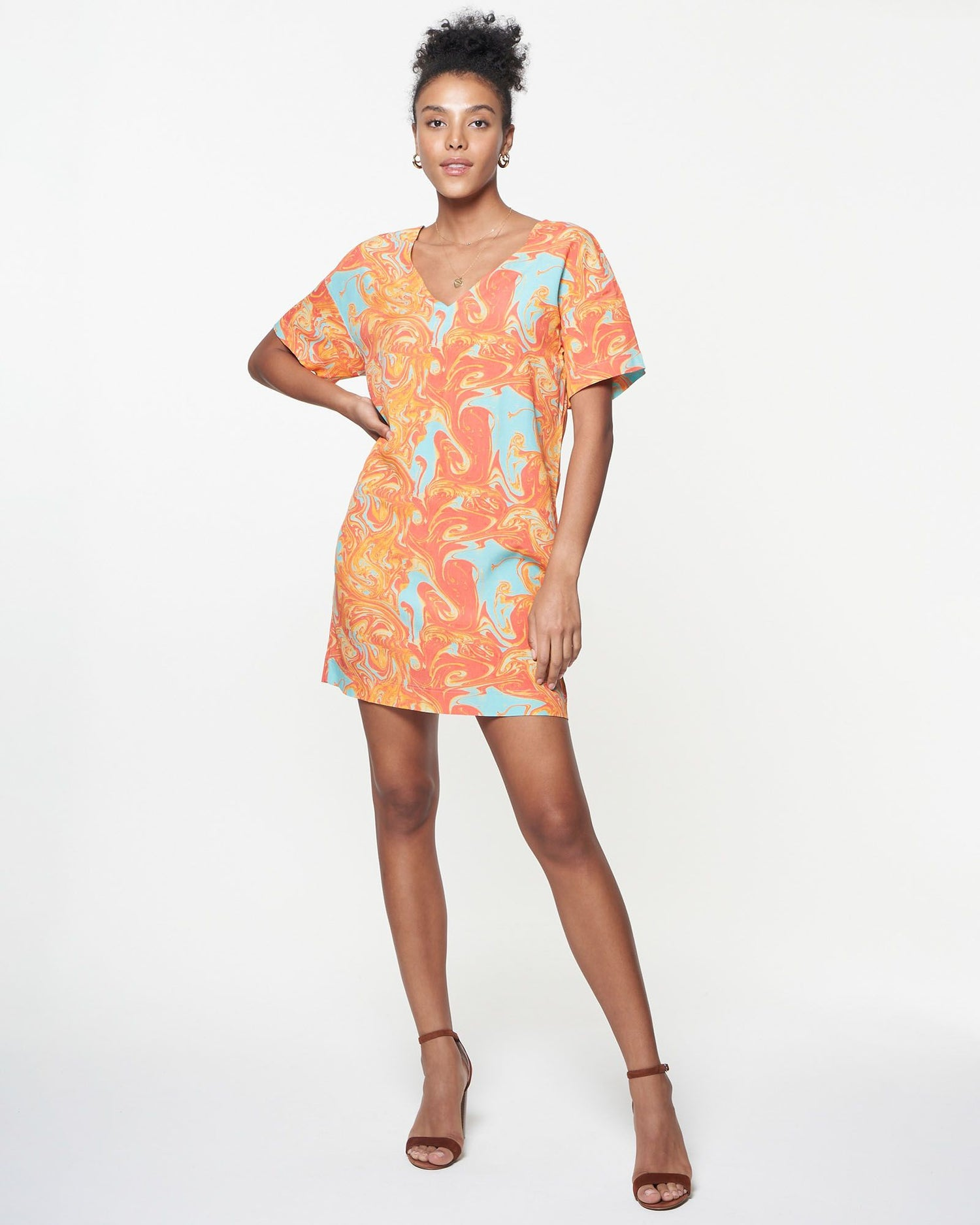 Kyle Dress | Sunset Marble