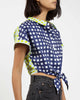 Tie-front Shirt | Lime Gingham