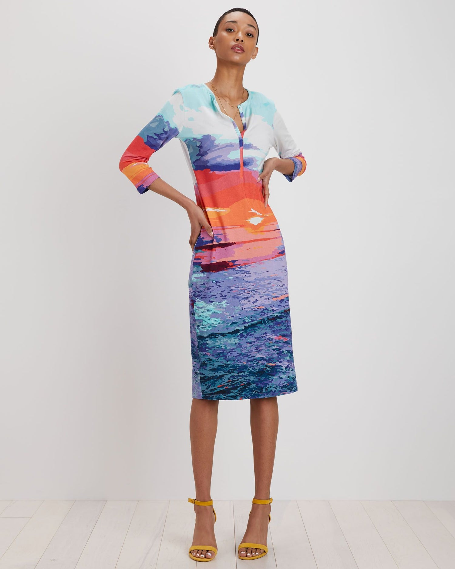 Gisella Dress | Sunset Landscape