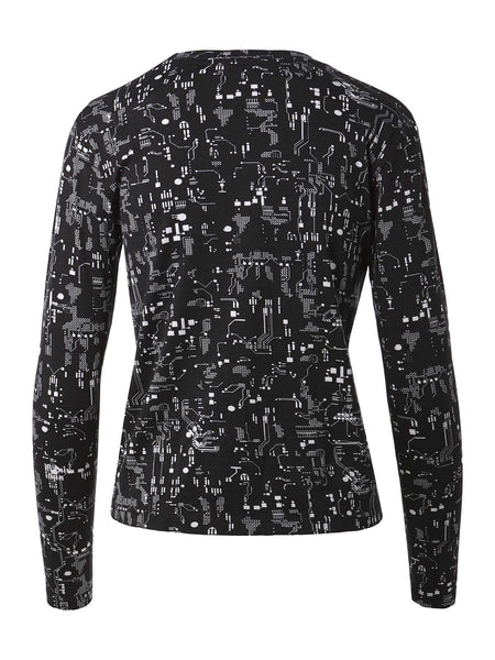 Long Sleeve Crewneck Tee | Circuit Board
