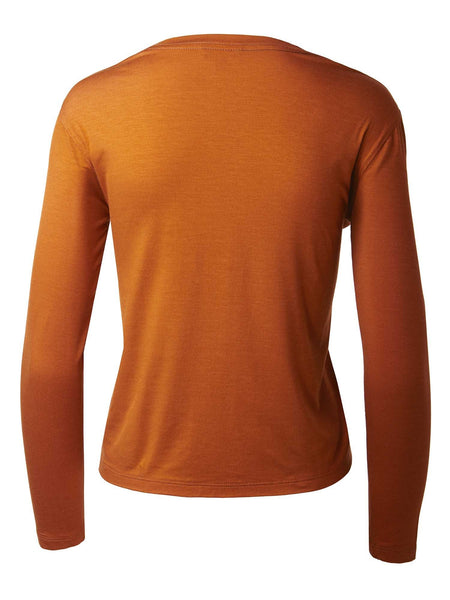 Long Sleeve Crewneck Tee | Clementine Orange