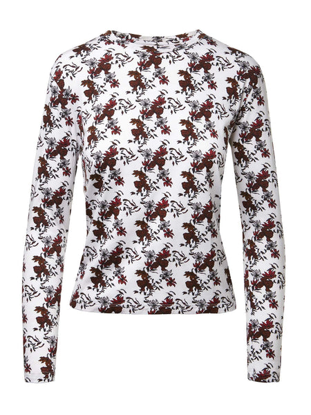 Long Sleeve Crewneck Tee | Scattered Florals