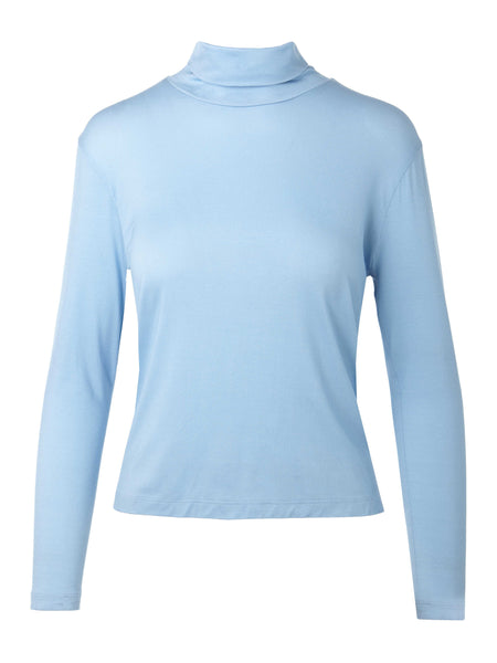 Long Sleeve Turtleneck Tee | Sky Blue