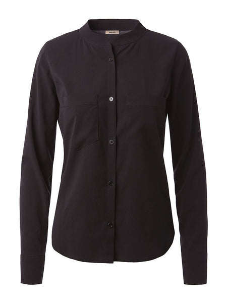 Long Sleeve Cobie Blouse | Black