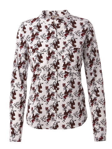 Long Sleeve Cobie Blouse | Scattered Florals Red
