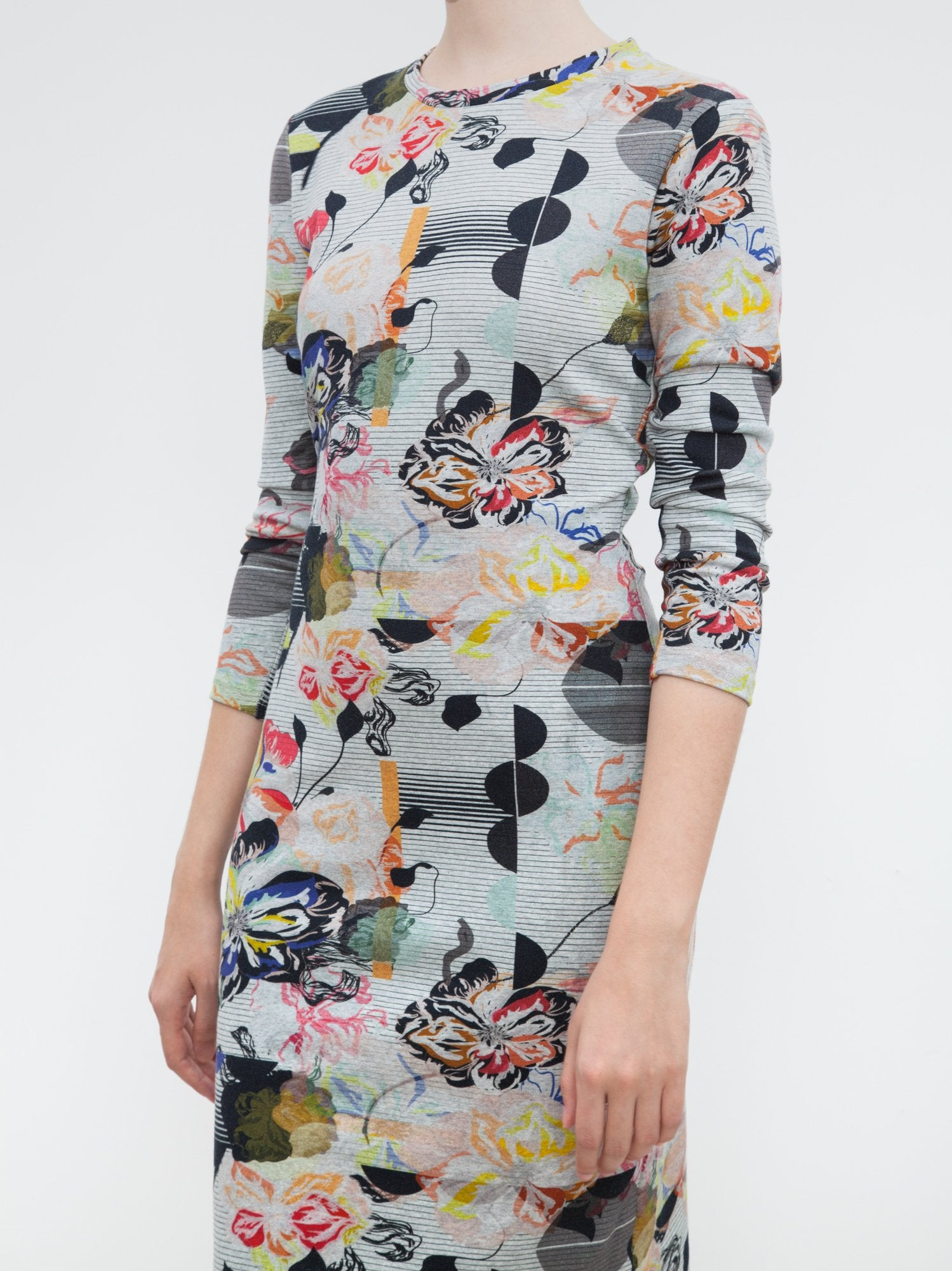 Midi Tee Dress | Graffiti Floral
