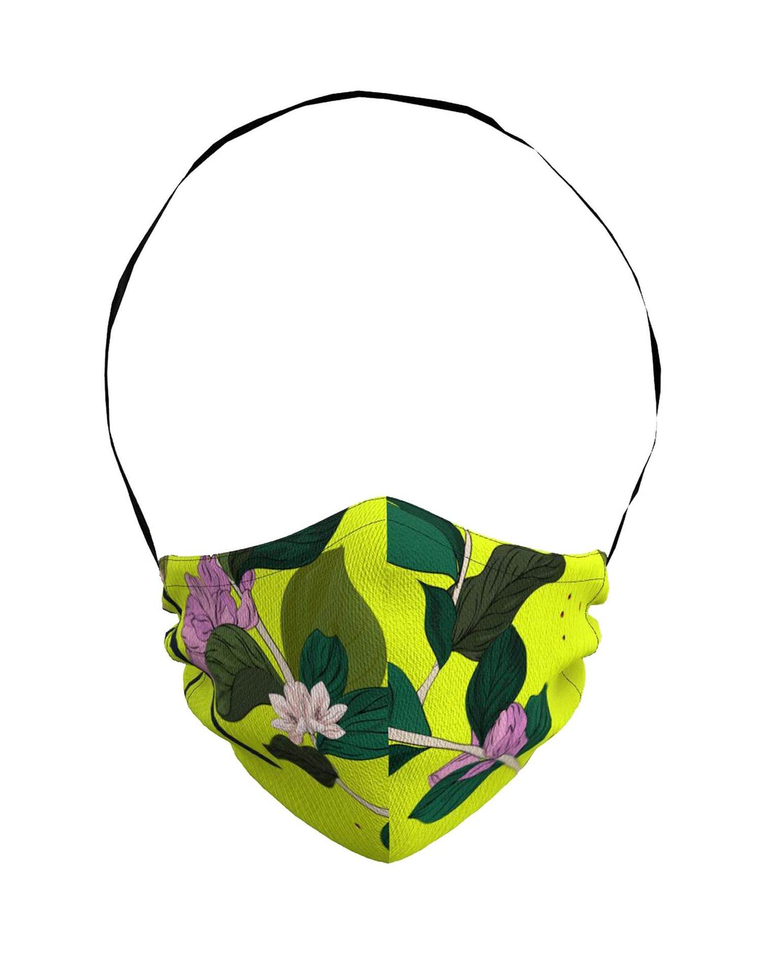 Face Mask | Lime Beach Floral
