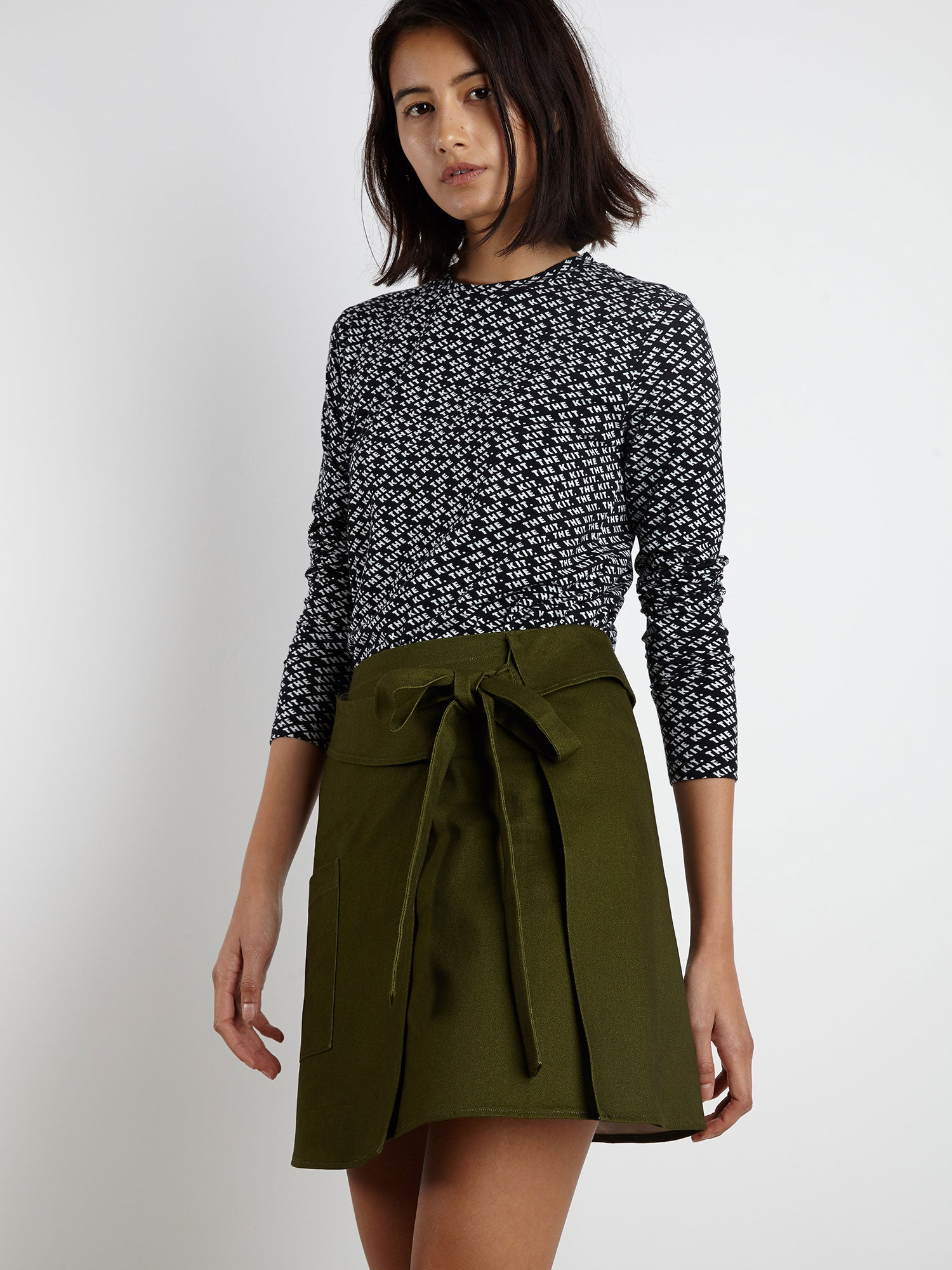 Wrap Kilt Skirt | Olive