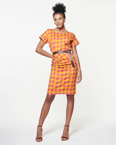 Lennon Dress | Mini Sunset Gingham