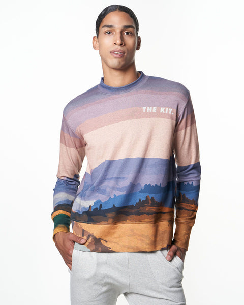 Men's Crewneck Sweatshirt | Mountain Postcard