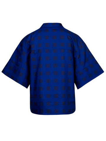 Boxy Shirt | Blue Gingham