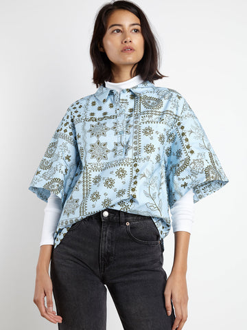 Boxy Shirt | KIT Blue Bandana