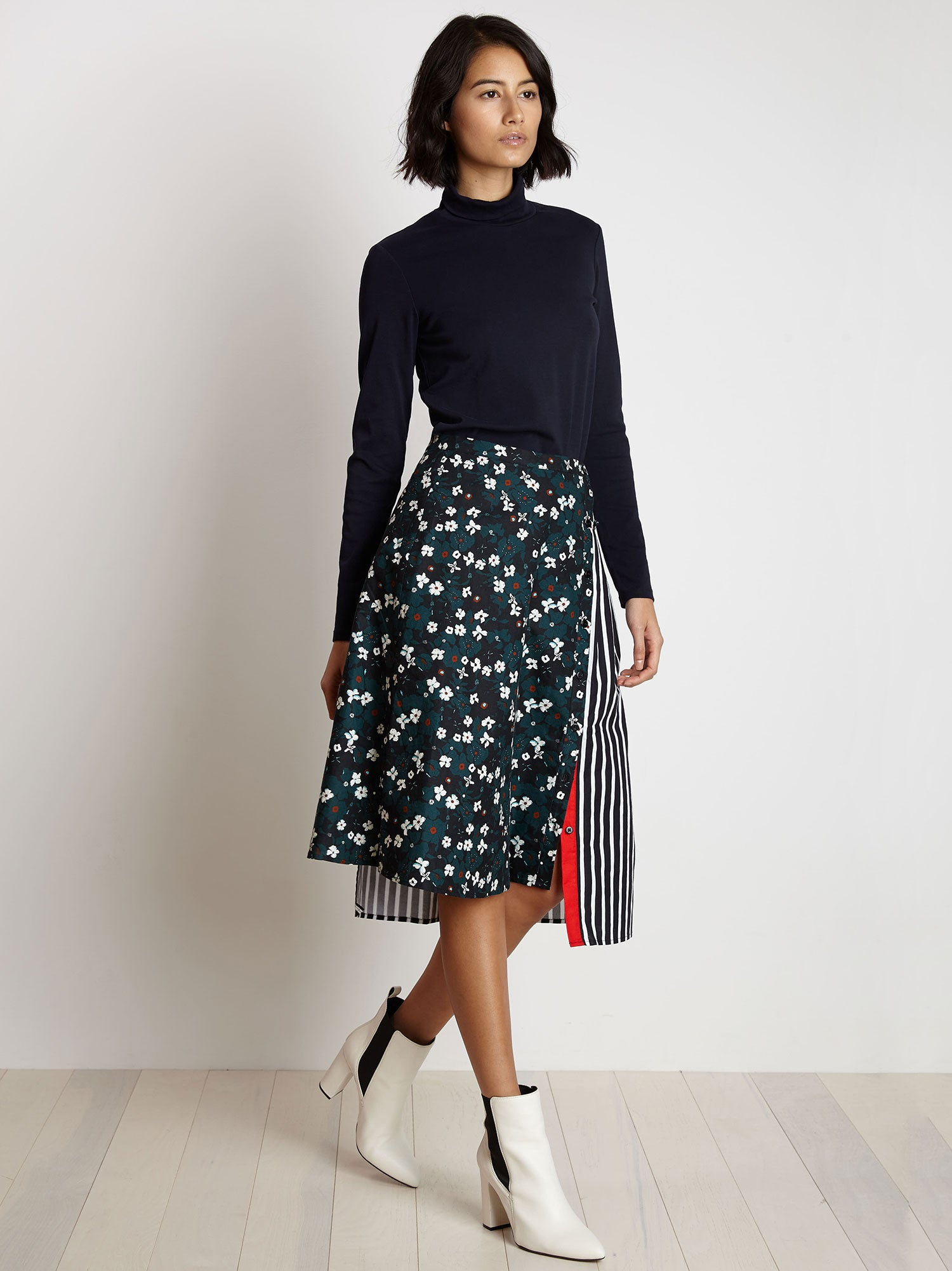 Dorothy Skirt | Dark Teal Primrose