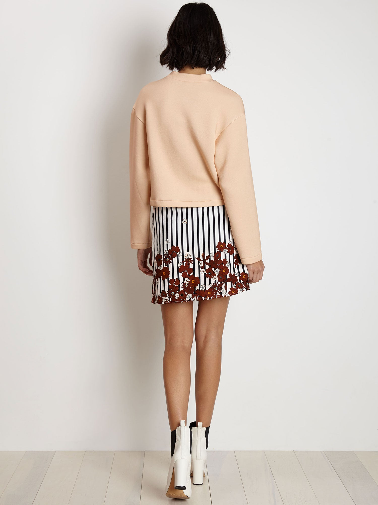 Wrap Kilt Skirt | Navy Stripe w/Rust Primrose