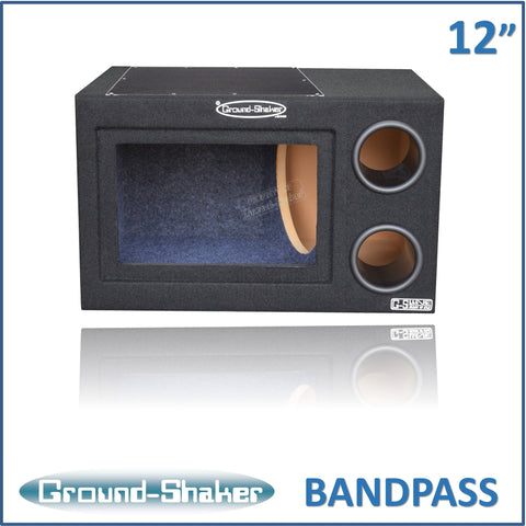 "GS-BPR112B <br> BLACK 12"" SINGLE BANDPASS SUB BOX"