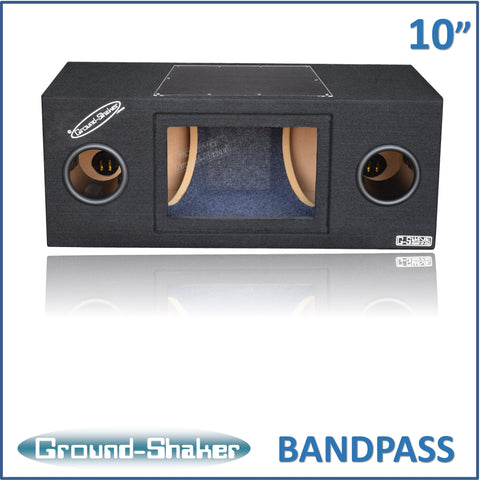 "GS-BPR210B <br> BLACK 10"" DUAL BANDPASS SUB BOX"
