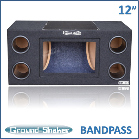 "GS- BPR212B <br> BLACK 12"" DUAL BANDPASS SUB BOX"