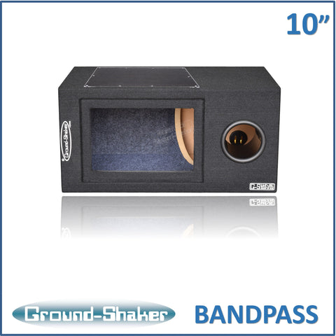 "GS-BPR110B <br> BLACK 10"" SINGLE BANDPASS SUB BOX"
